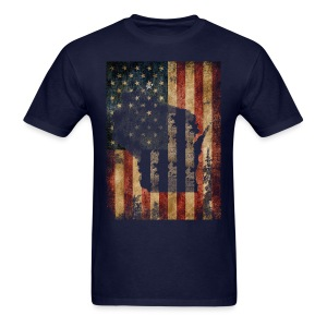 Wisconsin USA Flag - Men's T-Shirt