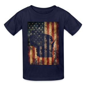 Wisconsin USA Flag - Kids' T-Shirt