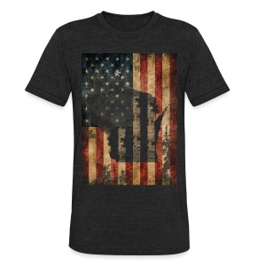 Wisconsin USA Flag - Unisex Tri-Blend T-Shirt by American Apparel