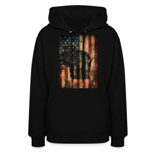 Wisconsin USA Flag - Women's Hoodie