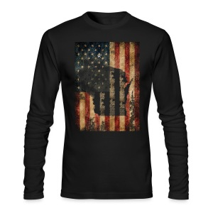 Wisconsin USA Flag - Men's Long Sleeve T-Shirt by Next Level