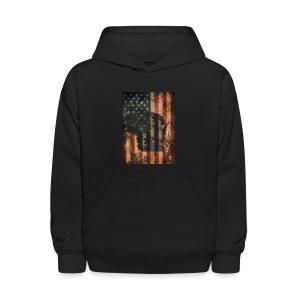 Wisconsin USA Flag - Kids' Hoodie