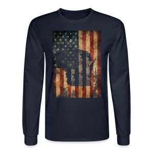 Wisconsin USA Flag - Men's Long Sleeve T-Shirt