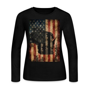 Wisconsin USA Flag - Women's Long Sleeve Jersey T-Shirt