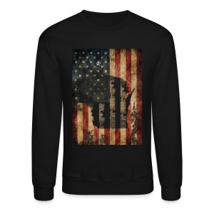 Wisconsin USA Flag - Crewneck Sweatshirt