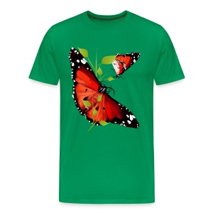 TWO BRIGHT ORANGE BUTTERFLIES - Men's Premium T-Shirt