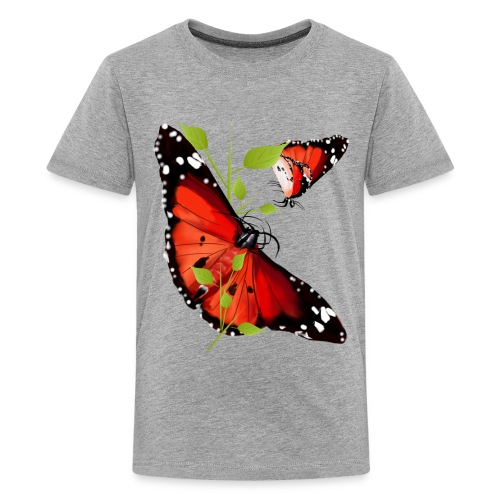 TWO BRIGHT ORANGE BUTTERFLIES - Kids' Premium T-Shirt
