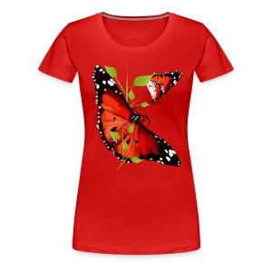 BRIGHT ORANGE BUTTERFLY - Women's Premium T-Shirt