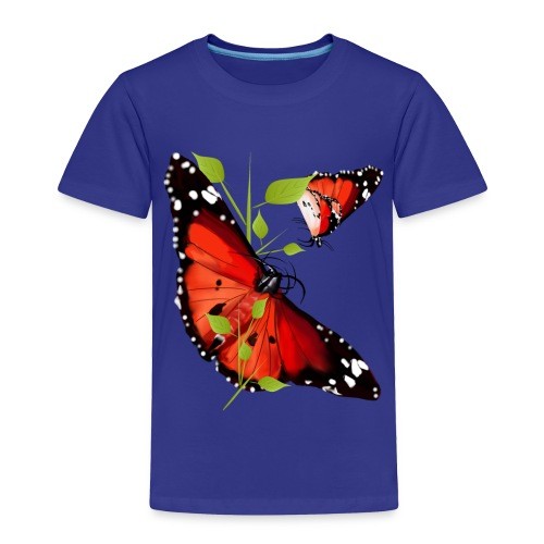 TWO BRIGHT ORANGE BUTTERFLIES - Toddler Premium T-Shirt