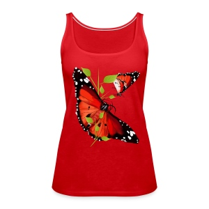 TWO BRIGHT ORANGE BUTTERFLIES - Women's Premium Tank Top