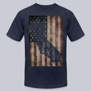 California USA Flag - Men's T-Shirt by American Apparel
