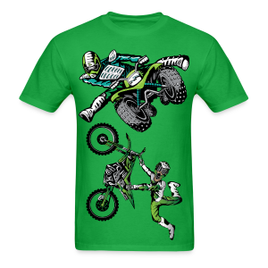 Extreme Green ATV Quad Freetyle - Men's T-Shirt