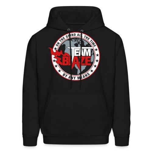 Team BLAZE Men's Hoodie (BLACK) - Men's Hoodie