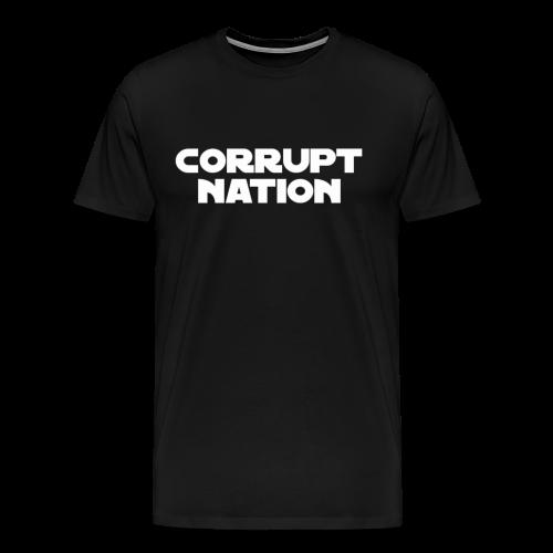 Corrupt Nation Galaxy Wars Logo T-Shirt  - Men's Premium T-Shirt