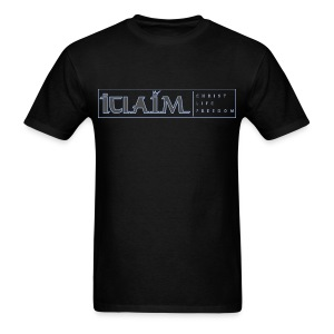ICLAIM | CHRIST, LIFE, FREEDOM T-SHIRT - Men's T-Shirt