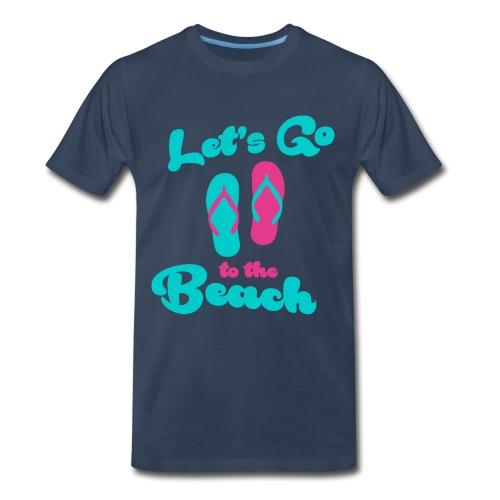 let's go to the beach T-Shirts - Men's Premium T-Shirt