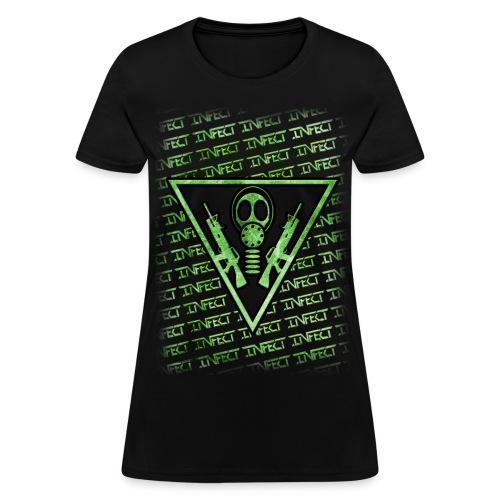 INFECT GREEN MATRIX HONEYS SHIRT - Women's T-Shirt