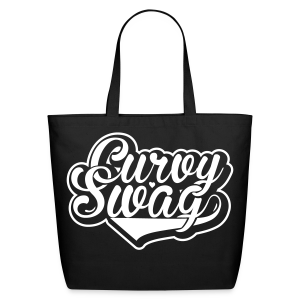 Curvy Girl Swag Bag (Version 2 - Reverse) - Eco-Friendly Cotton Tote