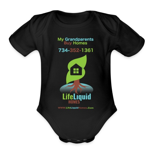 LifeLiquid Homes Promo Line - Organic Short Sleeve Baby Bodysuit