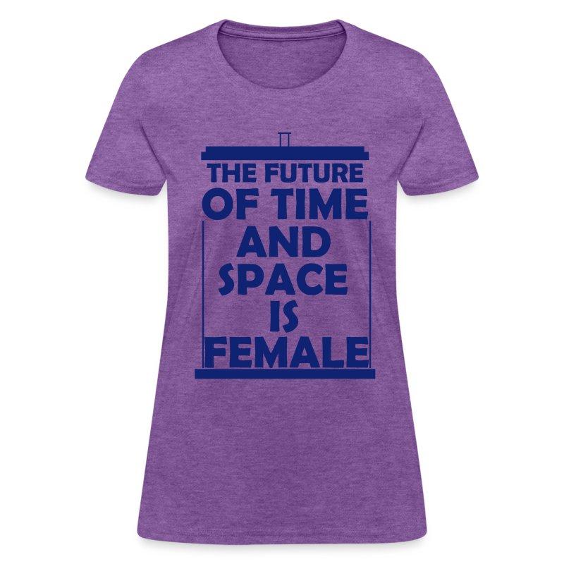 tardis_female_blue - Women's T-Shirt