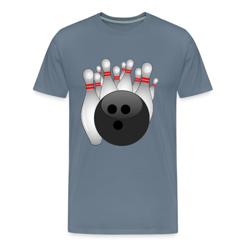 Bowling Ball and Pins Standing - Men's Premium T-Shirt