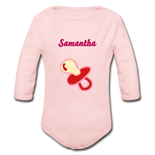 Customized Baby Onsie - Organic Long Sleeve Baby Bodysuit