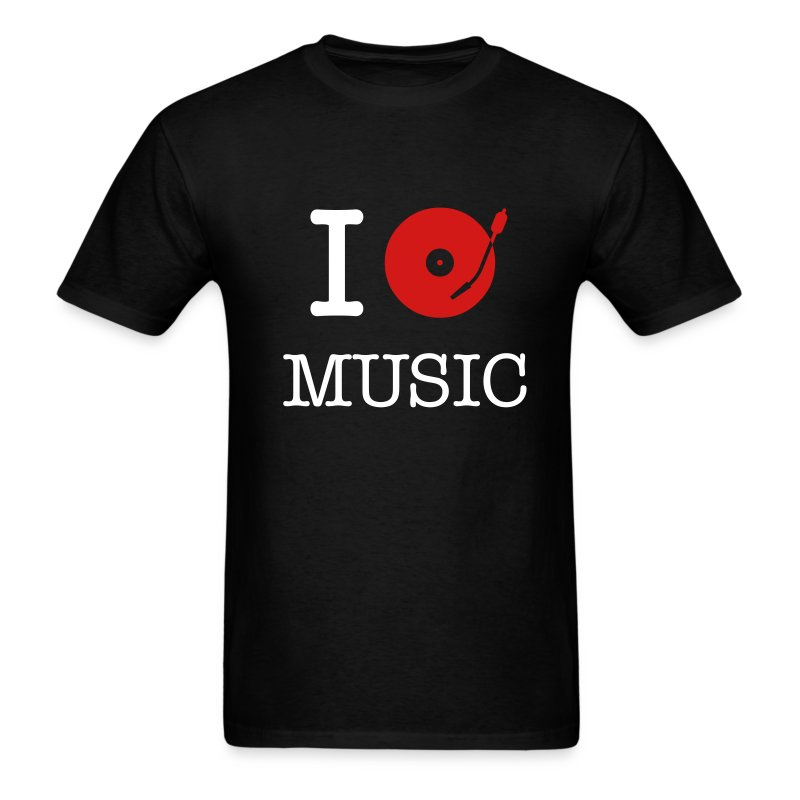 I Play Music (Black T) - Men's T-Shirt