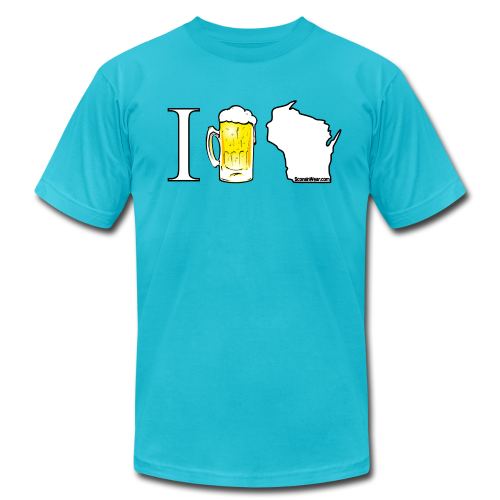 I Beer WI (Digital Print) - Men's Fine Jersey T-Shirt