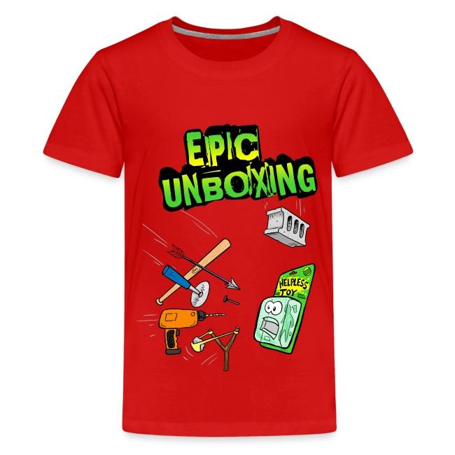 Epic Unboxing Kids Premium T-Shirt