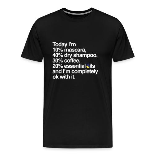 Mascara, Dry Shampoo, Coffee & Oils Men's Premium T-Shirt - Men's Premium T-Shirt
