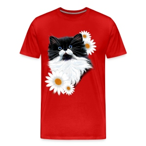 Tuxedo Kitten Face - Men's Premium T-Shirt
