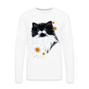 Tuxedo Kitten Face - Men's Premium Long Sleeve T-Shirt