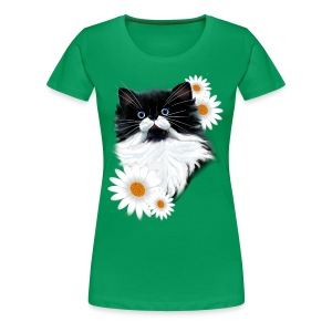 Tuxedo Kitten Face - Women's Premium T-Shirt
