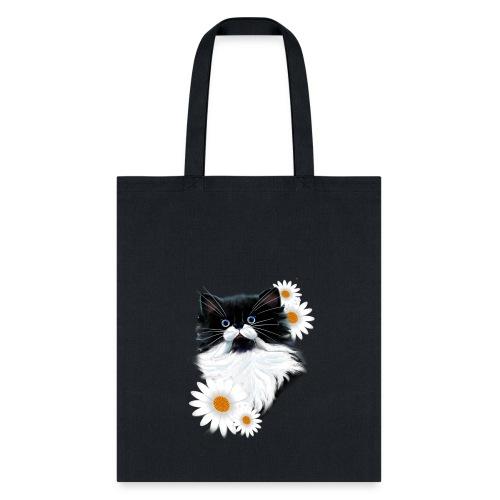 Tuxedo Kitten Face - Tote Bag