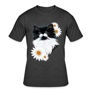 Tuxedo Kitten Face - Men's 50/50 T-Shirt