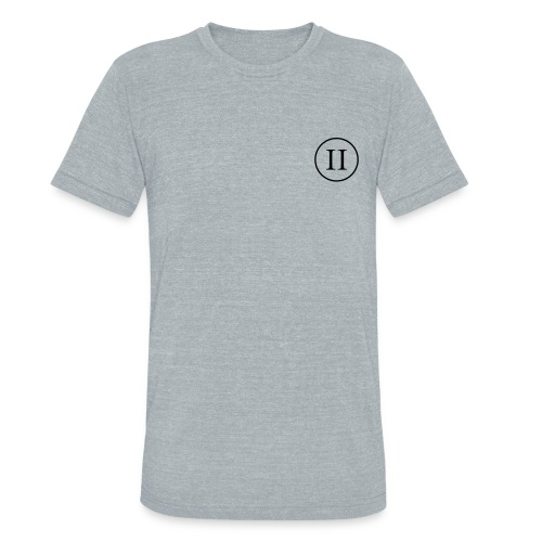 Heather Grey Shirt w/Flag Sleeve - Unisex Tri-Blend T-Shirt