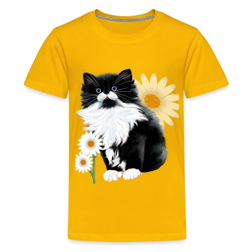 Kitten and Daisy - Kids' Premium T-Shirt