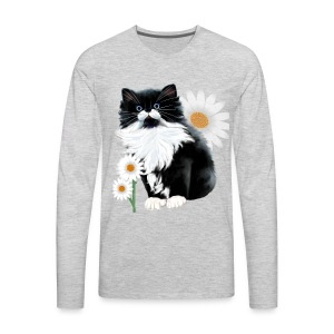 Kitten and Daisy - Men's Premium Long Sleeve T-Shirt