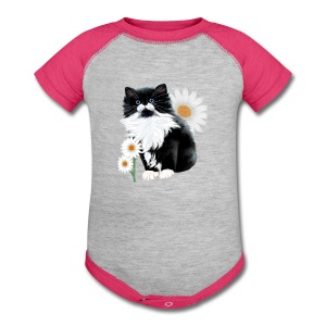 Kitten and Daisy - Baby Contrast One Piece