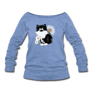 Kitten and Daisy - Women's Wideneck Sweatshirt