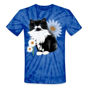 Kitten and Daisy - Unisex Tie Dye T-Shirt
