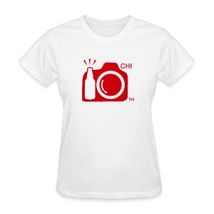 Women Standard Weight T-Shirt Red Large Logo Chicago - Women's T-Shirt