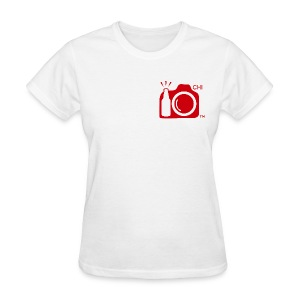 Women Standard Weight T-Shirt Red Small Logo Chicago - Women's T-Shirt