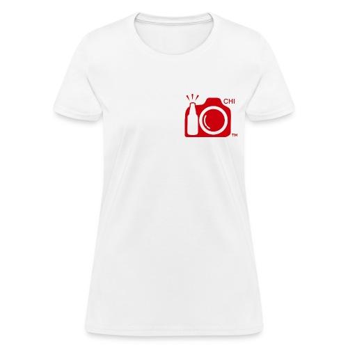 Women Standard Weight T-Shirt Red Small Logo Chicago - Women's T-Shirt