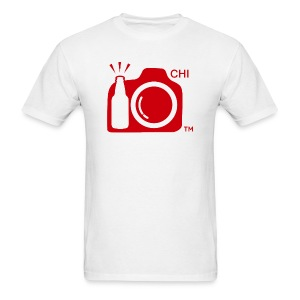 Men's Standard Weight T-Shirt Red Large Logo Chicago - Men's T-Shirt