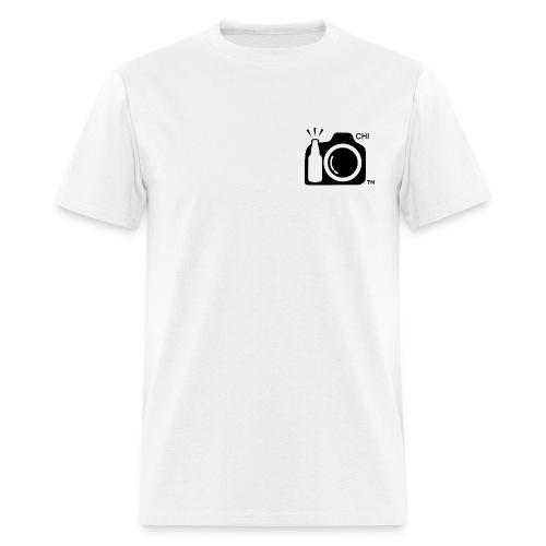 Men's Standard Weight T-Shirt Black Small Logo Chicago - Men's T-Shirt