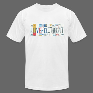 Love Detroit - Men's T-Shirt by American Apparel