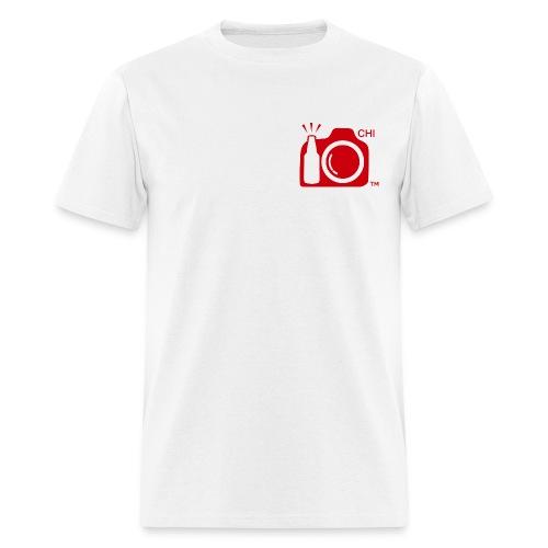 Men's Standard Weight T-Shirt Red Small Logo Chicago - Men's T-Shirt