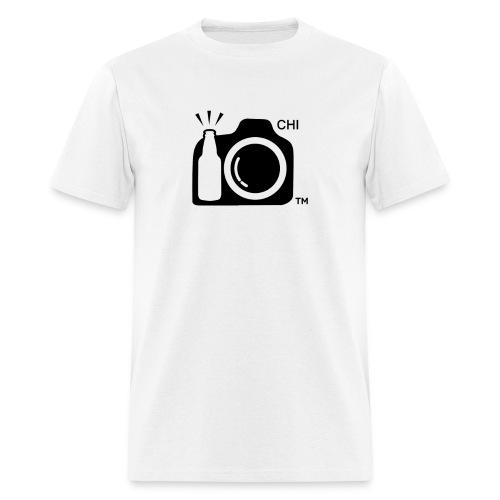 Men's Standard Weight T-Shirt Black Large Logo Chicago - Men's T-Shirt