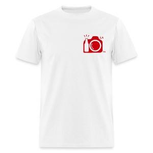 Men's Standard Weight T-Shirt Red Small Logo Los Angeles - Men's T-Shirt